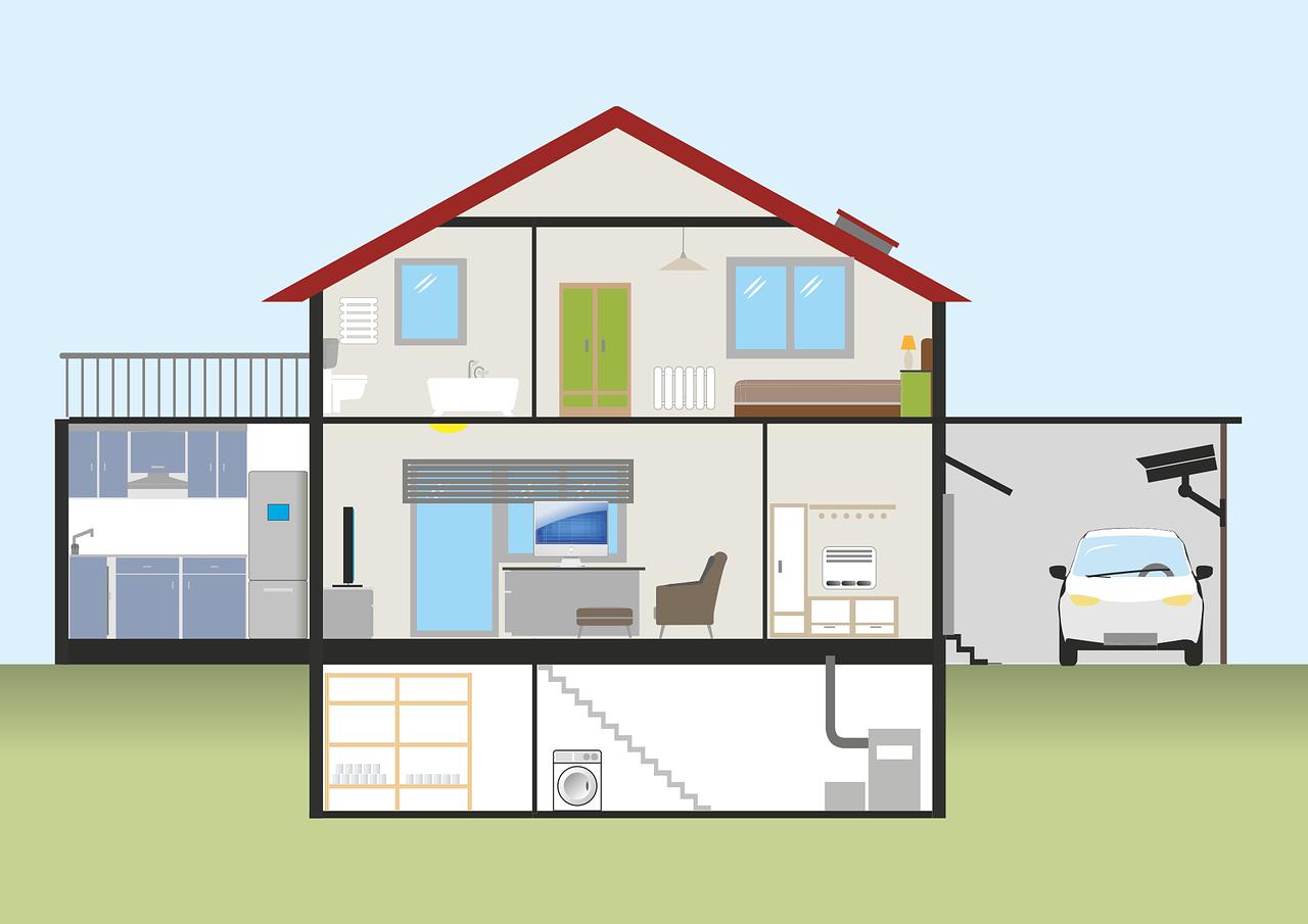 Grundriss Eigenheim für Heizsystem